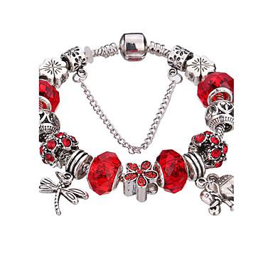 Női Elbűvölő karkötők Karperecek Strand Karkötők Silver Bracelets Imádni való Strassz Tartós Divat Akril Strassz Ezüstözött Ötvözet