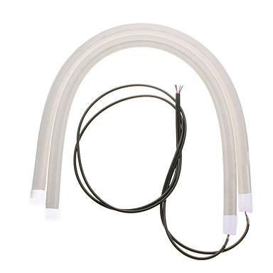 זול תאורת יום לרכב-JIAWEN 2pcs מכונית נורות תאורה 7W 560lm מנורה דקורטיבית / פנס ראש / אורות יום