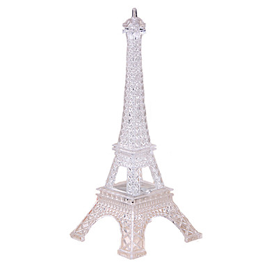 Eiffel Tower LED Lighting Transparent Colorful Plastics Polycarbonate Boys' Kid's Gift