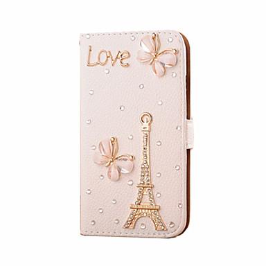 Para Samsung Galaxy Capinhas Porta-Cartão / Com Strass / Flip Capinha Corpo Inteiro Capinha Torre Eiffel Couro PU SamsungS7 edge / S7 /