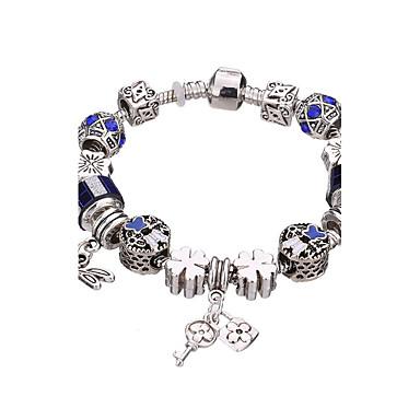 Női Lányok Elbűvölő karkötők Karperecek Strand Karkötők Silver Bracelets Strassz Ezüstözött Ötvözet Tartós Divat Imádni valóGeometric
