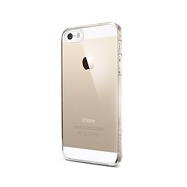 Capinha Para iPhone 5 Apple Capinha iPhone 5 Transparente Capa traseira Côr Sólida Rígida PC para iPhone SE/5s iPhone 5