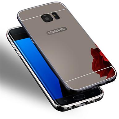 Para Samsung Galaxy S7 Edge Cromado Capinha Capa Traseira Capinha Cor Única PC Samsung S7 edge / S7 / S6 edge plus / S6 edge / S6