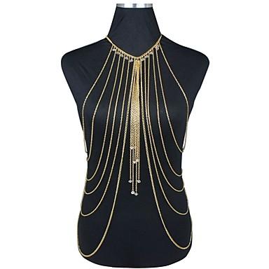 ieftine Bijuterii de Corp-Pentru femei Bijuterii de corp Lanț de Talie / Corp lanț / burtă lanț / Colier ham Cristal Auriu femei / European / Bikini Cristal / Placat Auriu / Aur Alb Costum de bijuterii Pentru Petrecere