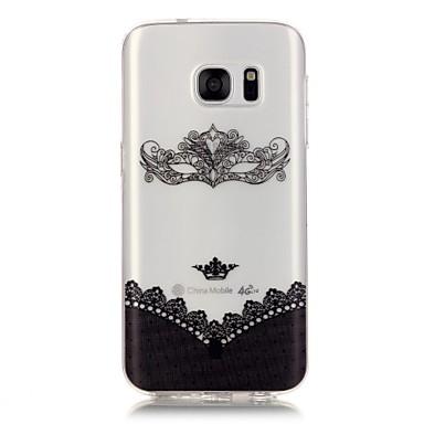 Mert Samsung Galaxy S7 Edge Átlátszó / Minta Case Hátlap Case Szexi lány Puha TPU Samsung S7 edge / S7 / S6