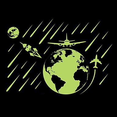 Landscape Falimatrica Repülőgép matricák / Világító falimatricák Dekoratív falmatricák / Magasságmérők,PVC AnyagÚjra-pozícionálható /