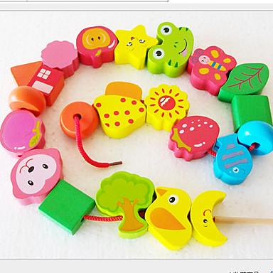 만화 나무 구슬 장난감