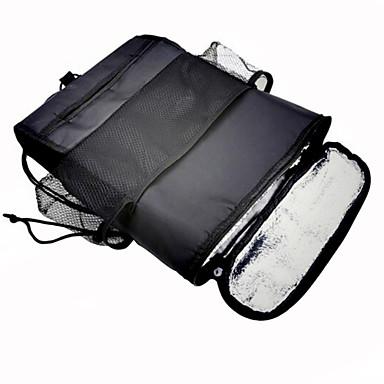 Car Back Seat Hanging Organizer Multifunctional Thermal Cooling Compartment Organizer Bag Tissue Box