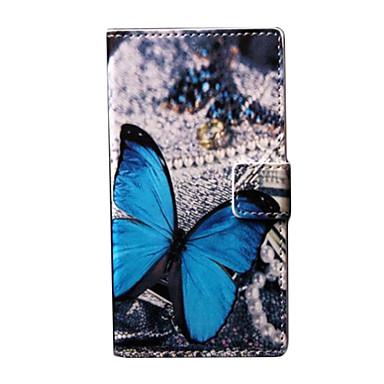 Για Θήκη Nokia Πορτοφόλι / Θήκη καρτών / με βάση στήριξης tok Πλήρης κάλυψη tok Πεταλούδα Σκληρή Συνθετικό δέρμα Nokia Nokia Lumia 730