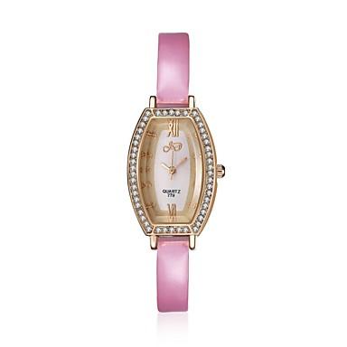 jewelora Női Divatos óra Kvarc Ütésálló Bőr Zenekar Régies (Vintage) Pink Rózsaszín