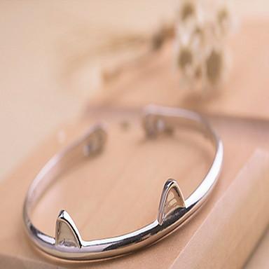 Női Ezüst Bilincs karkötők - Divat Mások Ezüst Karkötők Kompatibilitás Karácsonyi ajándékok Parti Napi