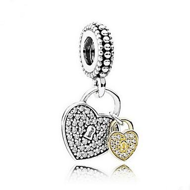 billige Perler og smykkemaking-DIY smykker 925 sølv hjerte form anheng