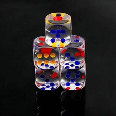 Zaruri Chips și zaruri Jucarii Multi Function Convenabil Distracție Pătrat Cristal PVC 10 Bucăți Cadou