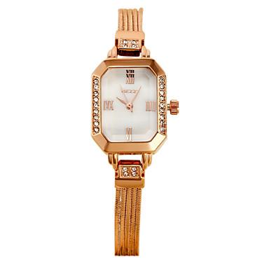 여성용 패션 시계 석영 일본 쿼츠 캐쥬얼 시계 스테인레스 스틸 밴드 레오파드 실버 로즈 골드