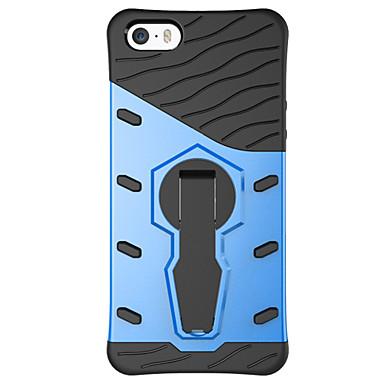 제품 아이폰5케이스 케이스 커버 스탠드 뒷면 커버 케이스 한 색상 하드 PC 용 Apple iPhone SE/5s iPhone 5