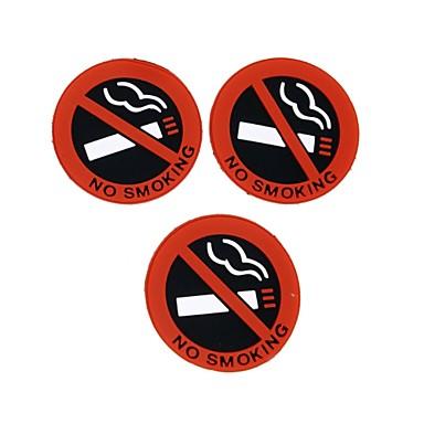 뜨거운 자동차 스타일링 자동차 3 개 ziqiao에는 로고 경고 기호 스티커 고무 라텍스 3D 스티커를 피우는 없습니다