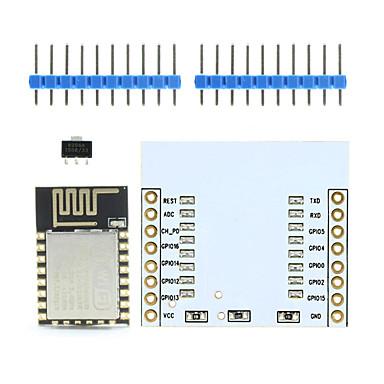 Landa Tianrui tm-esp-12 esp8266 soros wifi vezeték nélküli modul w / PCB antenna + adapter fedélzeten Arduino / Raspberry Pi