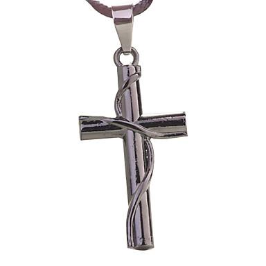 punk kereszt nyaklánc, férfi kulcscsontját lánc -A kereszt tekercselés