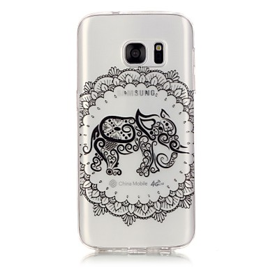 Mert Samsung Galaxy S7 Edge Átlátszó / Minta Case Hátlap Case Elefánt Puha TPU Samsung S7 edge / S7 / S6