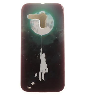 Case Kompatibilitás Moto G Motorola Motorola tok Minta Fekete tok Lufi Puha TPU mert
