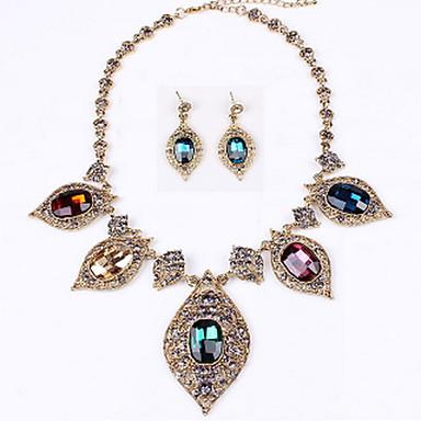Női Nyaklánc / fülbevaló Hamis gyémánt Nyakláncok Naušnice Kompatibilitás Napi Hétköznapi Esküvői ajándékok