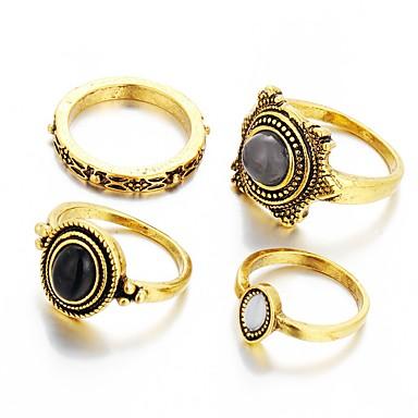 GyűrűkDivat / Régies (Vintage) Esküvő / Parti / Napi / Hétköznapi Ékszerek Női / Férfi Vallomás gyűrűk 1db,Egy méret Rezezett