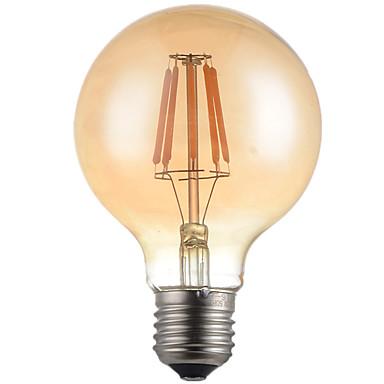5W E26/E27 LED필라멘트 전구 G95 6 LED가 고성능 LED 장식 따뜻한 화이트 500-550lm 2700K AC 220-240V