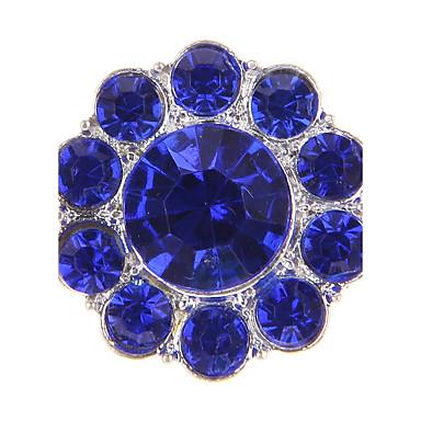 Circle Shape Geometric Shape Gyöngy Hamis gyémánt Ötvözet Európai Fehér Sárga Zöld Kék Rózsaszín Ékszerek Mert 1db