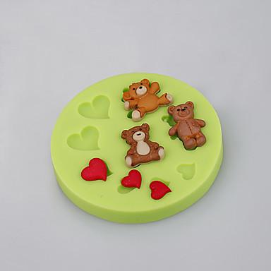 베이킹 몰드 만화 모양 초콜렛 파이 쿠키 케이크 실리콘 환경친화적인 고품질 휴일
