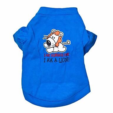 고양이 / 개 티셔츠 블루 강아지 의류 여름 동물 패션
