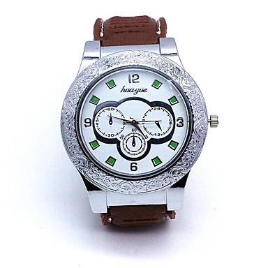 남성용 패션 시계 디지털 시계 석영 디지털 / PU 밴드 멋진 브라운