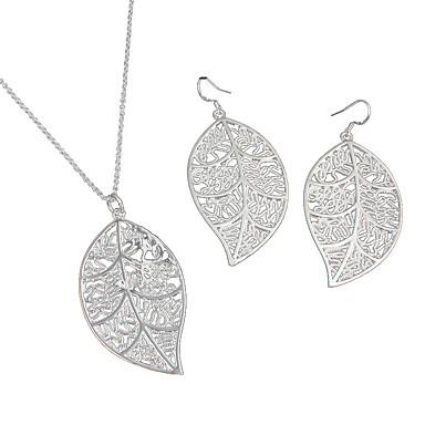Női Ezüst Ékszer szett tartalmaz Naušnice Nyakláncok - Alkalmi Divat Ezüst Nyaklánc / fülbevaló Kompatibilitás Esküvő Parti Napi