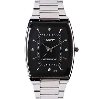 남성용 패션 시계 모조 다이아몬드 시계 석영 캐쥬얼 시계 스테인레스 스틸 밴드 스파클 참 멋진 실버 멀티컬러