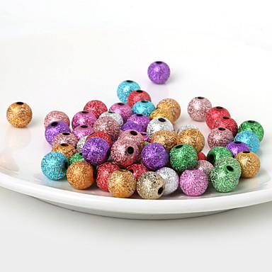 beadia의 10mm 아크릴 구슬 금 은색 플라스틱 구슬 28g (aprx.50pcs)