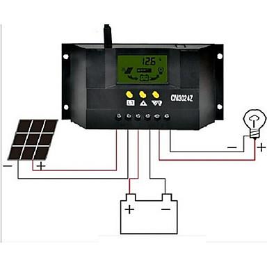 billige Elektrisk udstyr og materiale-cm3024z 30a 12v / 24v lcd flydende krystaller solcelle controller
