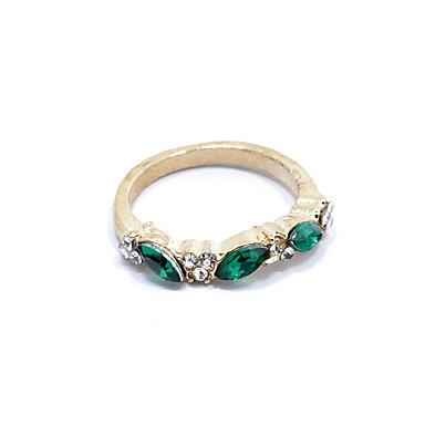 Kadın's Bildiri Yüzüğü - Yapay Elmas, alaşım Moda 8 Gümüş / Altın Uyumluluk Hediye Günlük