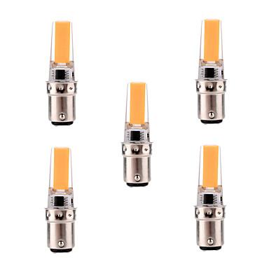 YWXLIGHT® 5pcs 5W 400-500lm BA15D LED Bi-pin 조명 T 1 LED 비즈 COB 밝기조절가능 장식 따뜻한 화이트 차가운 화이트 110-130V 220-240V