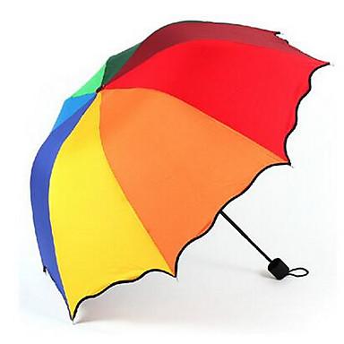 레드 / 화이트 / 그린 접는 우산 써니와 비오는 고무 레이디 / 남성