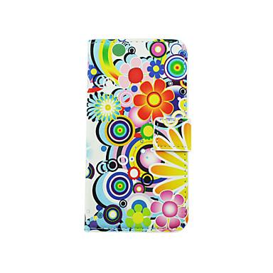 용 LG케이스 카드 홀더 / 스탠드 / 윈도우 / 플립 / 패턴 케이스 풀 바디 케이스 꽃장식 하드 인조 가죽 LG LG K10 / LG K8