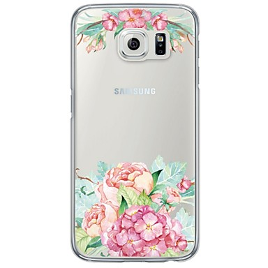 용 Samsung Galaxy S7 Edge 울트라 씬 / 반투명 케이스 뒷면 커버 케이스 꽃장식 소프트 TPU Samsung S7 edge / S7 / S6 edge plus / S6 edge / S6 / S5 / S4