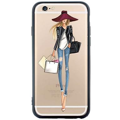 Mert iPhone 6 tok / iPhone 6 Plus tok Porálló / Minta Case Hátlap Case Szexi lány Puha TPU AppleiPhone 6s Plus/6 Plus / iPhone 6s/6 /