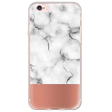 voordelige iPhone 5 hoesjes-hoesje Voor iPhone 6s Plus / iPhone 6 Plus / iPhone 6s iPhone 8 Plus / iPhone 8 / iPhone SE / 5s Ultradun / Doorzichtig Achterkant Marmer Zacht TPU / iPhone X