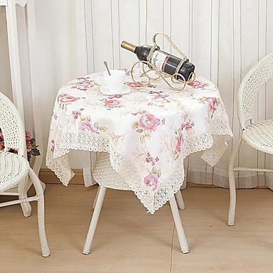 Négyzet Virágos Mintás Asztalterítők , Poliészter Anyag Hotel étkezőasztal
