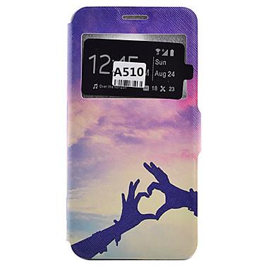 Mert Samsung Galaxy tok Kártyatartó / Ütésálló / Porálló / Állvánnyal Case Teljes védelem Case Szív Puha Műbőr SamsungA9(2016) / A7(2016)