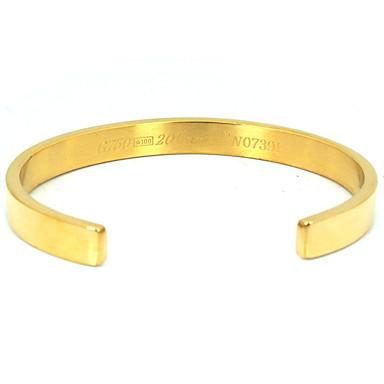 Női Bilincs karkötők Nyitva Divat Állítható Rozsdamentes acél Arannyal bevont Ékszerek Parti Évforduló Születésnap Házavató Gratulálok