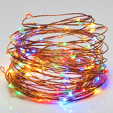 Łańsuchy świetlne 100 Diody LED RGB Biały Wodoodporne DC 12V