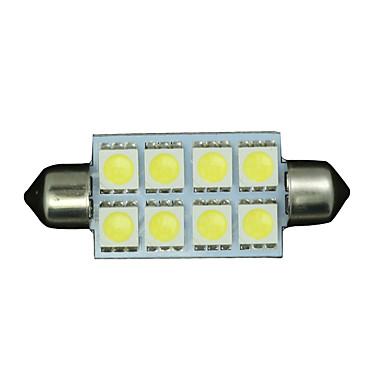 2 x zuiver wit 42mm 5050 festoen koepel kaart interieur LED-lampen 578 2112 6411