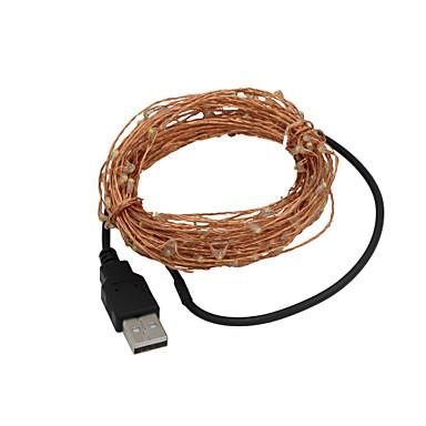 의 USB 5m 방수 유연한 3w 50-0603 SMD 녹색 빛 문자열을 주도 - 실버 (직류 12V)