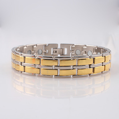Men's Chain Bracelet / ID Bracelet - Stainless Steel Fashion Bracelet Golden For Christmas Gifts / Daily / Casual