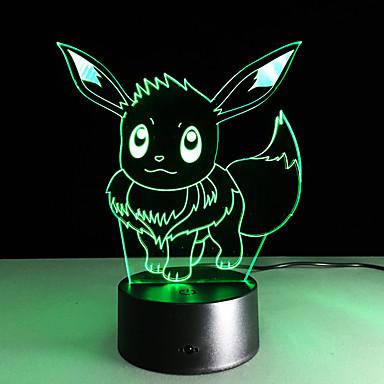 1kpl 2016 uusi Ibrahimovic 3d valoja värikäs touch led näkyvän valon lahja ilmapiiri koristeellinen lamppu